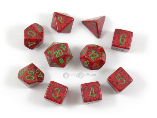KOP09996 Strawberry Pollyhedral Dice