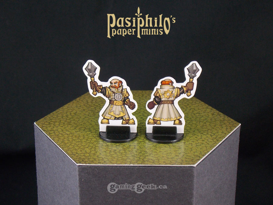 Male Dwarf Cleric Front and Back