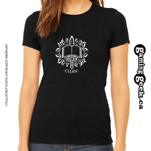 Cleric Fantasy RPG T-Shirt, Women's