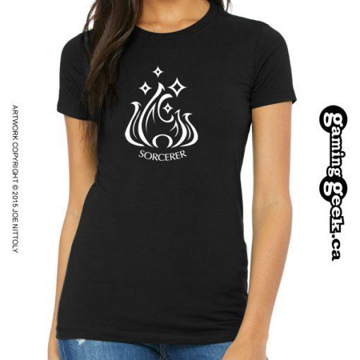 Sorcerer Fantasy RPG T-Shirt, Women's
