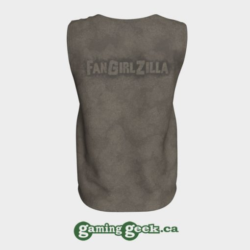 'FangirlZilla' Women's Tank Top (back)