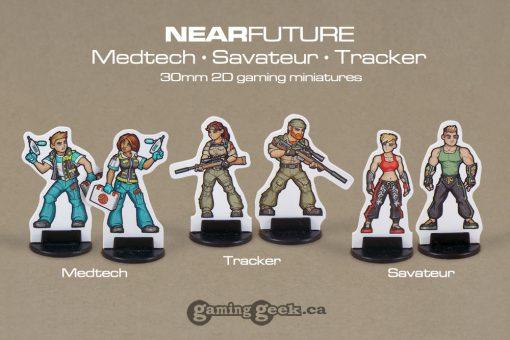 PPM1028 NearFuture Medtech, Savateur & Tracker 30mm 2D modern sci-fi gaming minis
