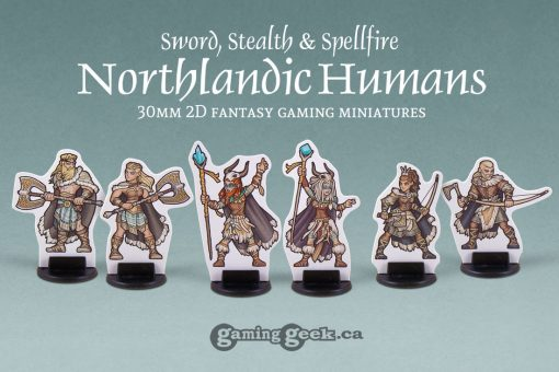 PPM1029 Northlandic Humans 2D 30mm Fantasy Gaming Miniatures